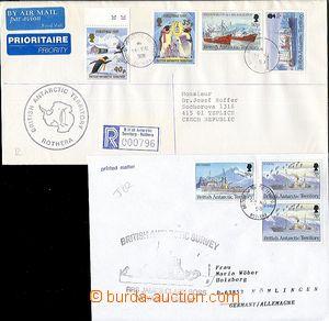 58377 - 1996-9 2x dopis z BAT, 1x vyfr. zn. Mi.2x 205 + 208 zaslaný