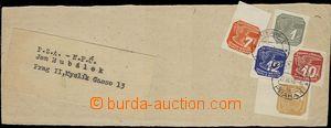 58386 - 1943 adresní výstřižek z novinového rukávu s bohatou s