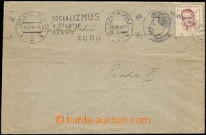 58398 - 1949 letter with print propagandistic MC Socializmus and šťa
