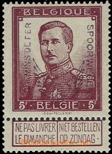 58403 - 1915 railway stamp Mi.57, highest value 5Fr, sought stamp, m
