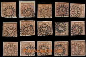 58421 - 1850 comp. 15 pcs of stamps and cut-squares with postmarks m