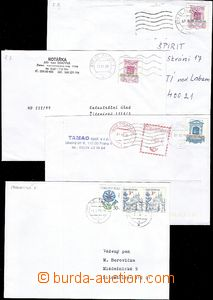 58422 - 1999-04 FORGERIES  comp. 4 pcs of letters franked forgeries