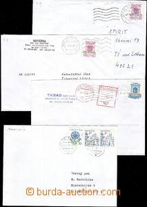 58422 - 1999-04 FALZA  sestava 4ks dopisů vyfrankovaných padělky