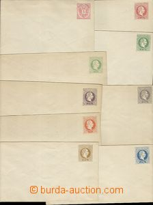 58432 - 1870-83 comp. 9 pcs of various postal stationery covers with