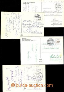 58461 - 1953 4x postcard with postage chosen cash, post Lučenec, Fre