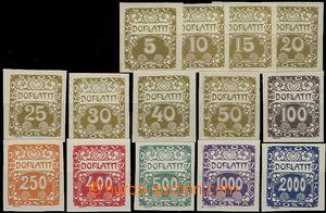 58468 - 1919 Pof.DL1-14, kompletní řada Ornamentální kresba, kat
