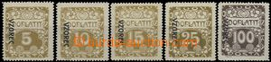 58473 - 1919 Pof.DL1-3vz, DL5vz, DL9vz, stamp. with line perforation