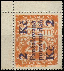 58479 - 1925 Pof.PD4, rohový kus, kat. 220Kč