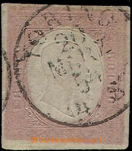 58488 - 1854 Mi.9a bricky red, wide margins, almost complete CDS Tor