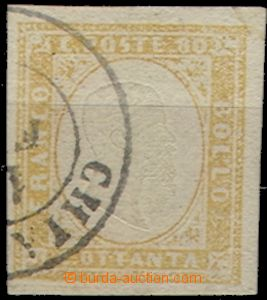 58489 - 1862 Mi.12, wide margins, expertized + 3 owner's mark, extra