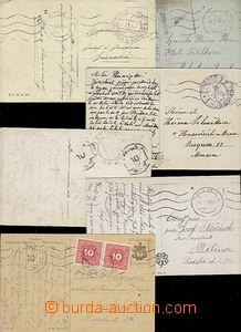 58505 - 1918-9 Cash  comp. 6 pcs of Ppc with postmark FRANCO CASH 10