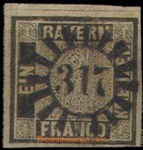 58510 - 1849 perfect forgery, incl.  numbered cancel. Mühlradstempe