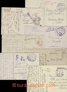 58514 - 1918-9 Hotově  sestava 6ks pohlednic s frankaturou v hotovo