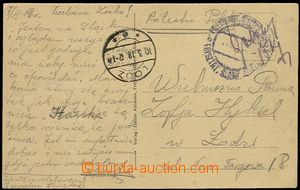 58525 - 1919 postcard from territory temporarily occupied Poland to