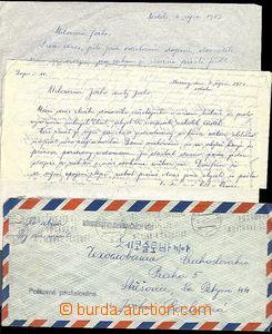 58594 - 1953 KOREA  dopis zaslaný od příslušníka čs. delegace
