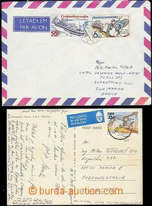 58608 - 1989 UNTAG, postcard sent from mission in/at Namibii to Czec