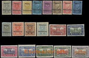 58630 - 1920 Mi.321-339 issue for Carinthia, complete set 19 pcs of,