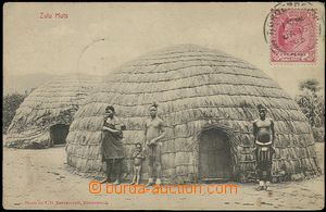 58639 - 1908  B/W postcard to Moravia (Zuluové before/(in front of)