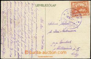 58656 - 1920 pohlednice vyfr. zn. 40h Hradčany s fialovým(!) DR Vo