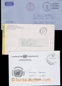 58659 - 1994-95 3x dopis od jednotek OSN, 1x Czech UNPROFOR Batt., 1