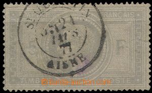 58660 - 1869 Mi.32, value 5Fr grey-blue, sought stamp, average condi