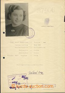 58663 - 1942 C.C. TEREZIN-THERESIENSTADT  personal sheet with photo