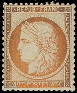 58665 - 1870 Mi.35, sought stamp, color to examination, cat. 700€