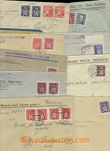 58667 - 1947-48 comp. 9 pcs of letters franked with. service stmp I.