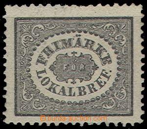 58677 - 1856 Mi.6, šedočerná, u nás ojedinělý výskyt, nahoře