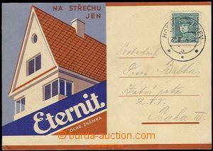 58678 - 1936 Eternit, barevný reklamní přítisk na prošlém  lí