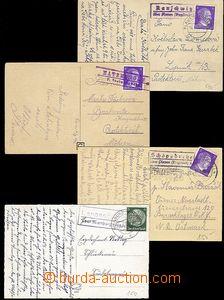 58682 - 1940-43 GERMANY  sestava 4ks pohlednic vyfr. německými vý