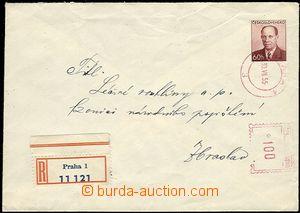 58683 - 1955 COB6, zaslaná jako R dofr. OVS 1Kčs, Praha 30.VII.55,