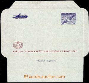 58684 - 1962 CAE2A, folded aerogram 1,20Kčs with additional-printin