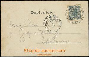 58704 - 1905 franked with. postcard stamp. 5h with cancel. K.u.K Fel