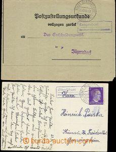 58712 - 1941-44 sestava 2ks celistvostí s poštovnami LANGENDORF/ b