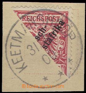 58733 - 1900 DEUTSCH (GERMAN) - SOUTH-WEST AFRICA  Mi.7, bisected st