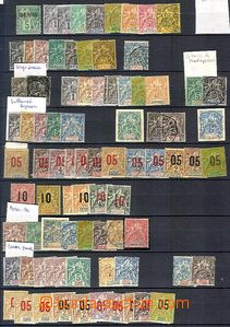 58740 - 1885-1930 FRENCH COLONIES  interesting comp. of stamps on sh