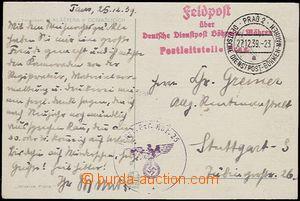 58772 - 1939 pohlednice zaslaná do Německa jako FP, DR DDP BuM Pra