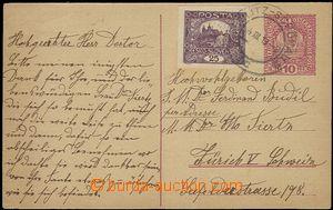 58775 - 1919 CPŘ1 10h Koruna zaslaná po době platnosti do Švýca