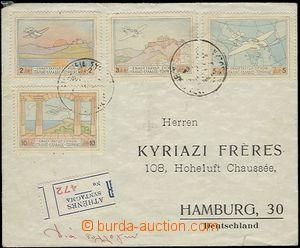 58790 - 1933 R+Let-dopis do Německa, vpředu vyfr. poloúředními
