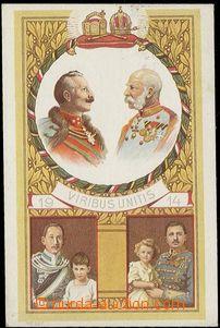 58824 - 1914 FRANZ JOSEPH I., WILHELM II., Viribus Unitis; prošlá,