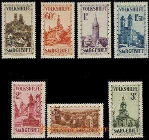 58828 - 1932 Mi.161-167 People's Aid - castles and churches, mint ne