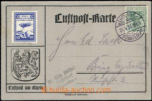 58868 - 1913 letecká karta s vylepenou neúřední nálepkou Erste
