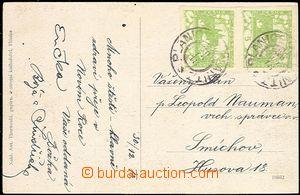 58881 - 1918 pohlednice Plánice (okr. Klatovy) vyfr. svislou 2-pás