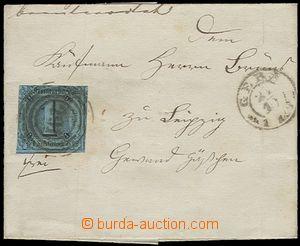 58882 - 1858 skládaný dopis (bez obsahu) vyfr. zn. Mi.4 s číseln