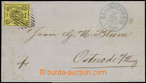58885 - 1863 folded letter with 11A with line cancel. No.8 and blue