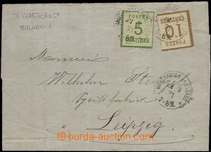 58887 - 1871 folded letter with Mi.4I, 5I, CDS Mulhousen am Alsace 2