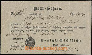 58890 - 1841 poštovní lístek na zásilku z Moritzburgu do Dráž�