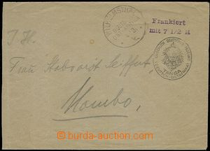 58901 - 1916 GERMAN EAST AFRICA postal stationery cover issue Tanga