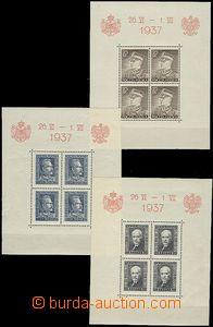 58927 - 1937 Mi.Bl.2+3+4 (Mi.321-3) Návštěva rumunského krále,